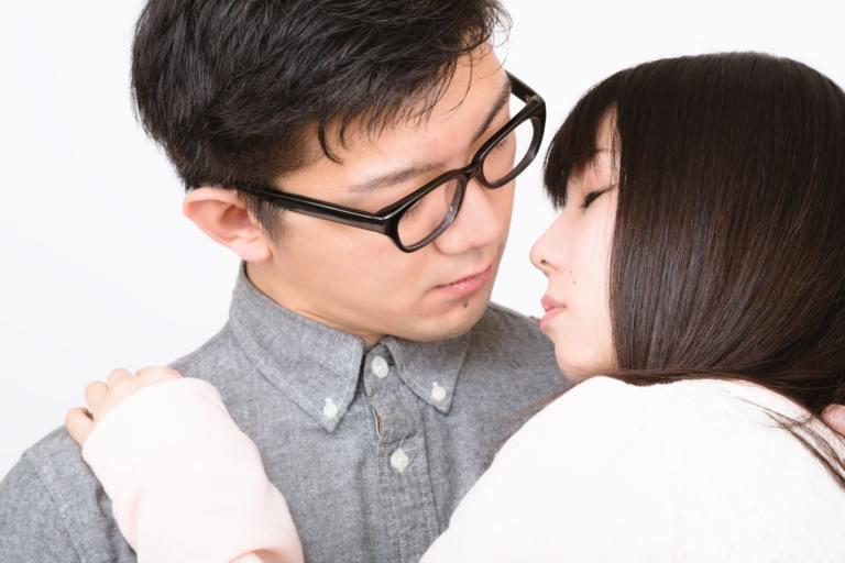 彼氏とキス